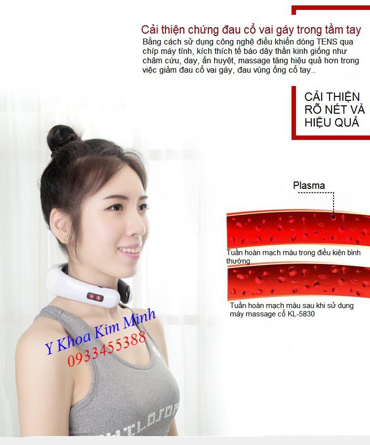 Máy điều trị đau cổ vai gay, đau cổ tay Neck Magnetic Therapy KL-5830 - Y khoa Kim Minh 0933455388