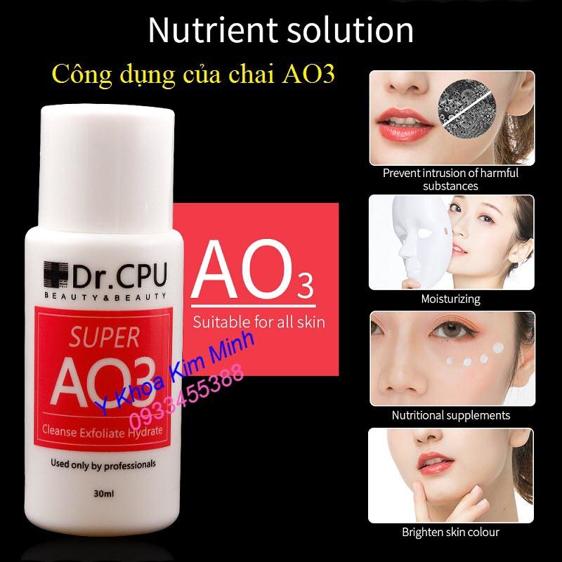 Chai Dr CPU AO3 có công dụng chăm sóc da gì?