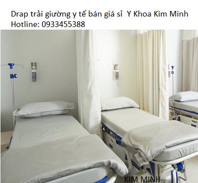 Tấm Drap trải giường y tế vải màu trắng - Y Khoa Kim Minh 0933455388