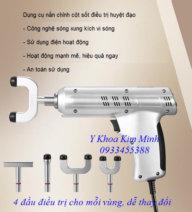 Dụng cụ nắn chỉnh cột sống, trị đau cột sống lưng cổ, điều trị tắt huyệt đạo Ginha - Y khoa Kim Minh