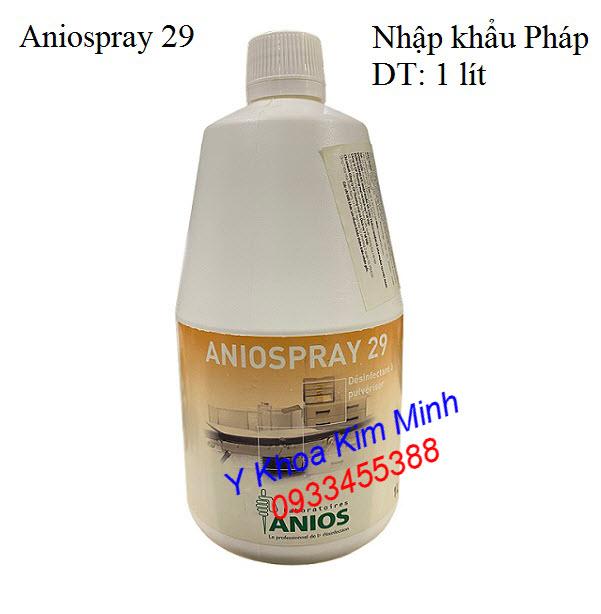 Dung dịch phun khử trùng mạnh Aniospray 29 nhập khẩu Pháp - Y khoa Kim Minh