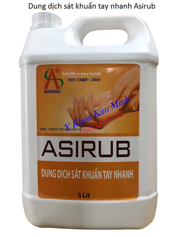 Dung dich sat khuan tay nhanh Asirub can 5 lít bán tại Tp Hồ Chí Minh - Y Khoa Kim Minh