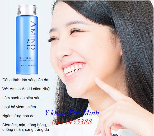 Dưỡng chất nuôi dưỡng sáng da, làm sạch da, chống viêm  Amino Acid Lotion Nhật Bản - Y Khoa Kim Minh
