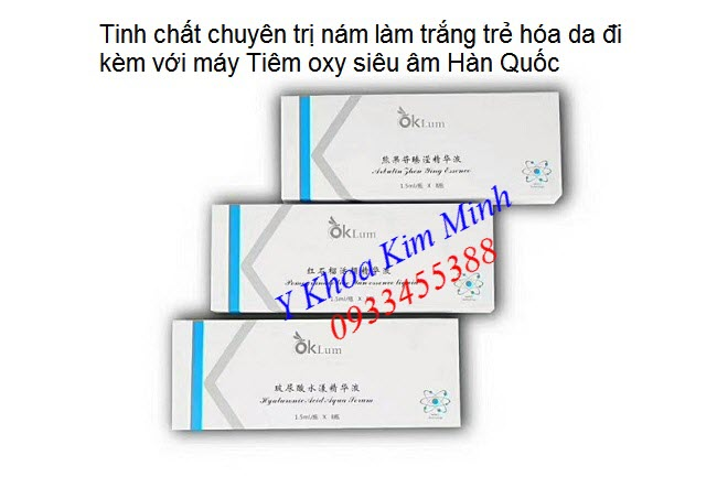 Dưỡng chất chạy máy tiêm oxy siêu âm Hàn Quốc - Y khoa Kim Minh 0933455388