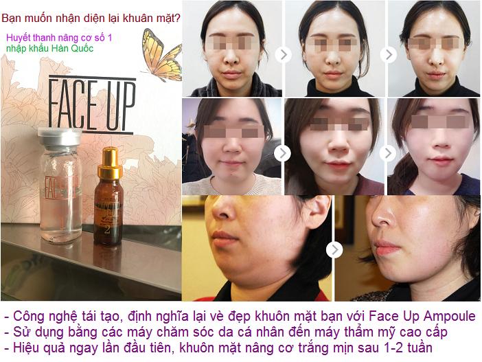 Huyết thanh nâng cơ mặt, Face Up Ampoule cho làn da trắng mịn thon gọn Vline ngay lần đầu tiên sử dụng