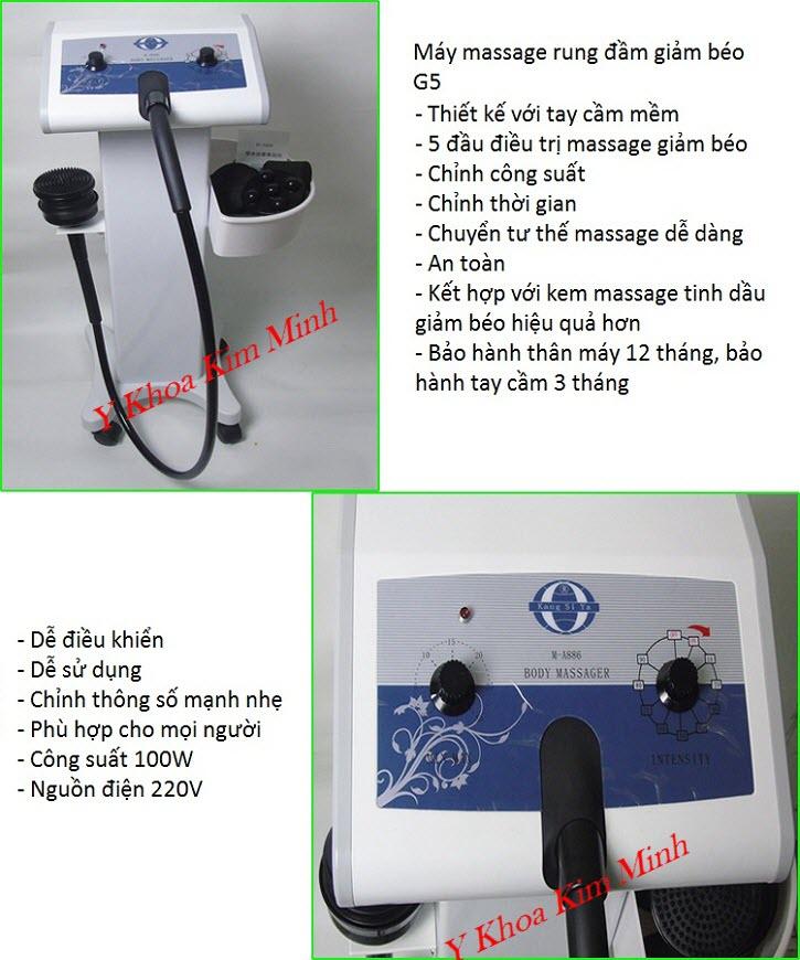 Sử dụng máy masasge rung giảm béo G5 tăng hiệu quả trong liệu trình giảm mỡ cho khách hàng - Y Khoa Kim Minh