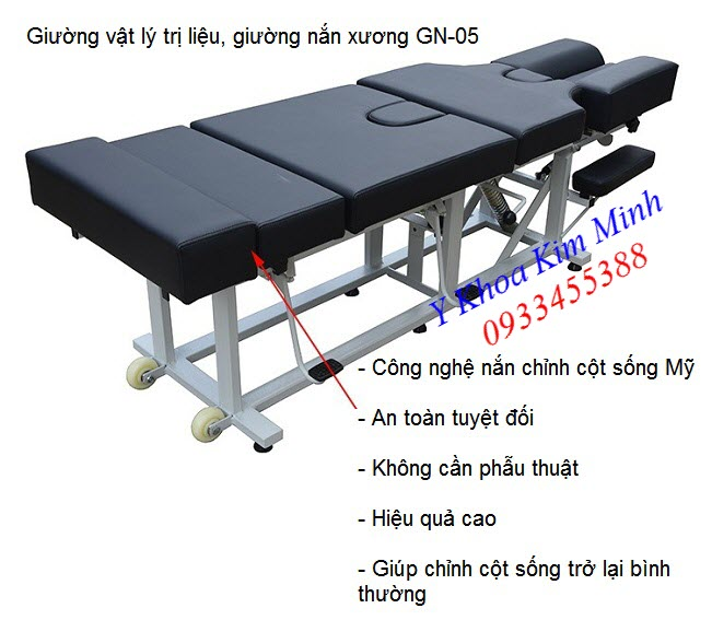 AmericanChiropractic Pressing Folding Bone Bed, giường nắn chỉnh cột sống lưng cổ - Y Khoa Kim Minh