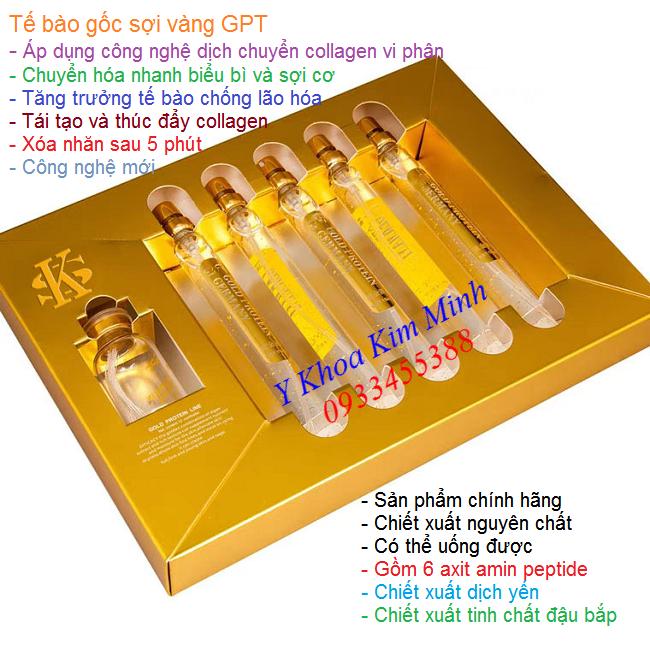 SK Gold Protein, tế bào gốc vàng GPT xóa nhăn da mặt nâng cơ tức thì - Y khoa Kim Minh 0933455388