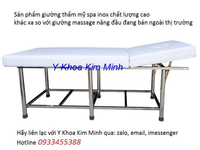 Giuong massage nang dau 2 manh inox chat luong cao GY-602 san xuat tai Y khoa Kim Minh