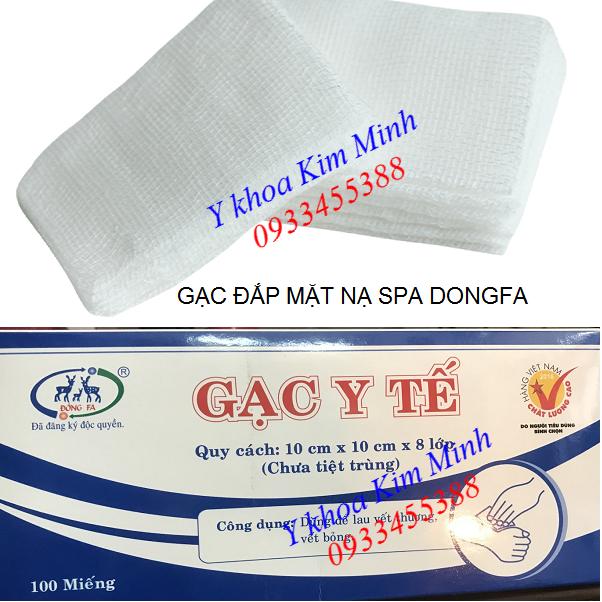Gạc lưới đắp mặt nạ 10x10cm, 100 miếng/hộp, gạc lưới y tế Dongfa - Y khoa Kim Minh 0933455388