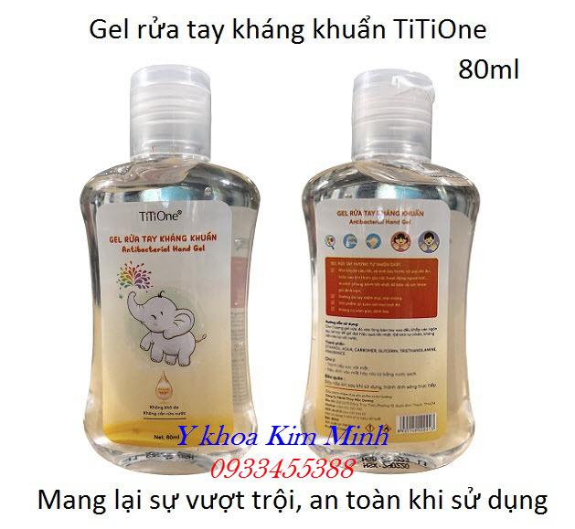 Gel rửa tay nhanh kháng khuẩn TiTiOne 80ml bán tại Tp. HCM - Y khoa Kim Minh