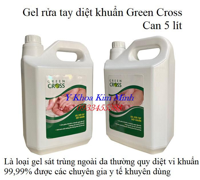 Ge rua tay diet khuan Green Cross can 5 lít chuyên dùng cho y tế, trường học, co6ng ty có khả năng sát khuẩn mạnh đến 99,99% - Y Khoa Kim Minh