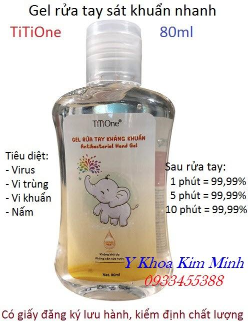 Gel rửa tay sát khuẩn khô Titione chất lượng - Y khoa Kim Minh