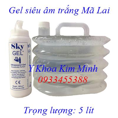 Gel siêu âm trắng Mã Lai 5 lít/thùng bán tại Y khoa Kim Minh