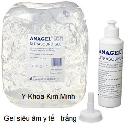 Gel siêu âm trắng y tế dùng chạy máy giảm béo 40K Cavitation - Y khoa Kim Minh