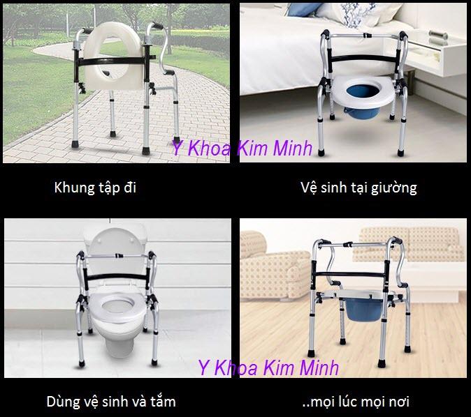 Ghe bo ve sinh nguoi benh da nang W-67 - Y Khoa Kim Minh