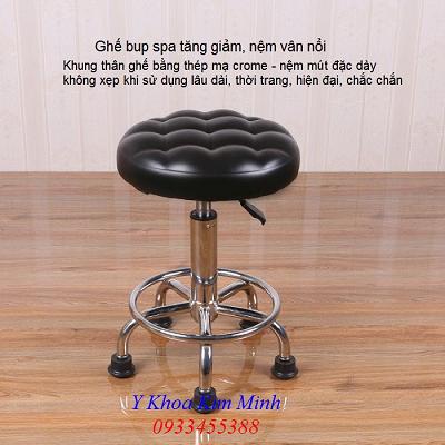 Ghe bup spa cao cap chan chong truot co tang giam chieu cao - Y Khoa Kim Minh