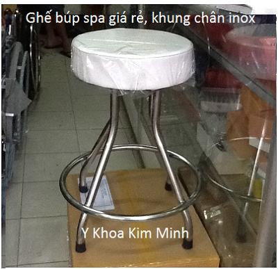 Ghe bup spa chan inox - Y Khoa Kim Minh