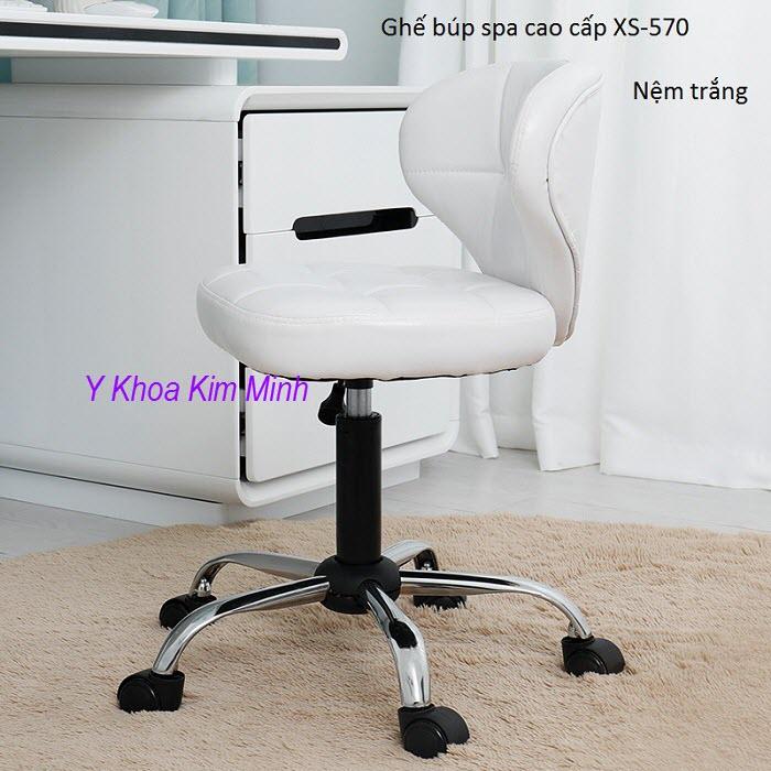 Ghế búp spa XS-570 nệm trắng - Y Khoa Kim Minh