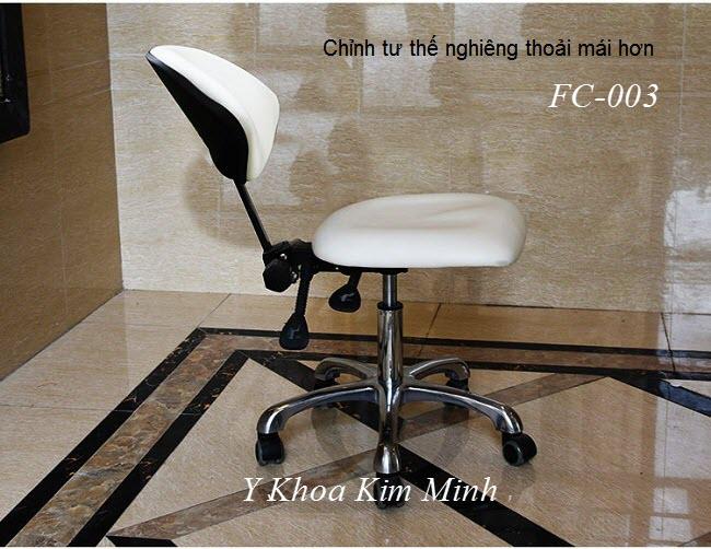 Ghế búp thẩm mỹ spa FC003 tăng giảm và ngã nằm thoải mái hơn - Y Khoa Kim Minh