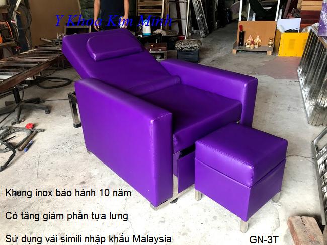 Ghe foot spa chat luong cao cap bao hanh 10 năm cho khung inox - Y khoa Kim Minh