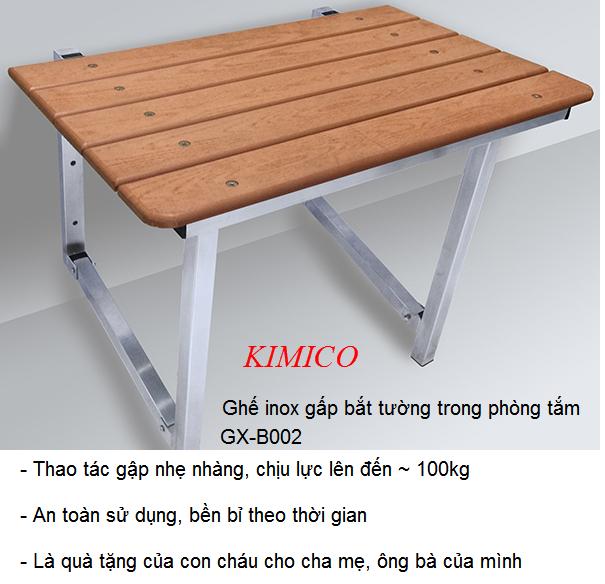 Ghế inox gấp bắt tường dùng trong phòng tắm cho người già vệ sinh - Y Khoa Kim Minh 0933455388