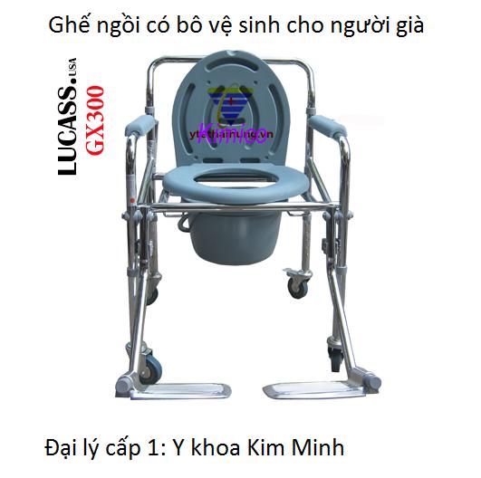 Ghe ngoi co bo ve sinh hang Lucas GX-300 - Y Khoa Kim Minh