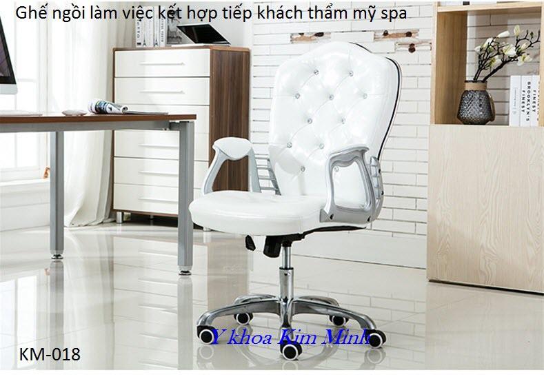 Ghế ngồi làm việc tiếp khách thẩm mỹ viện spa KM-018 - Y Khoa Kim Minh