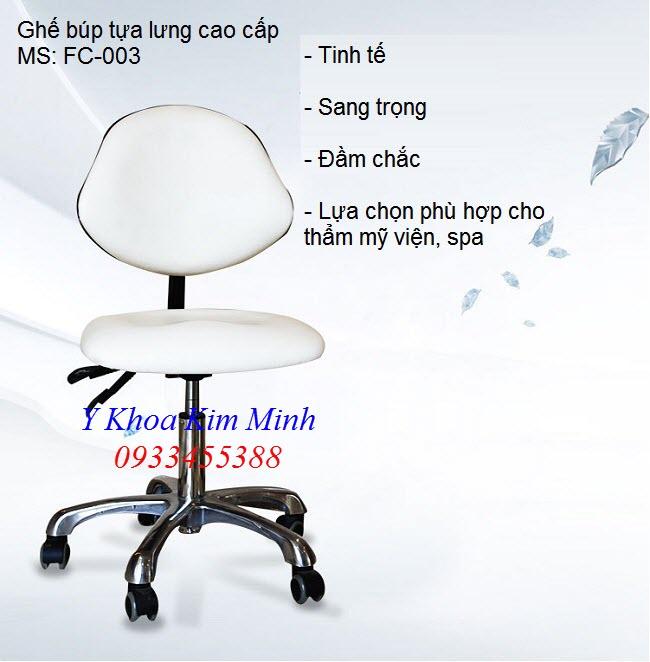 Noi ban ghe bup tua lung dung cho nhan vien spa tham my vien ngoi - Y Khoa Kim Minh