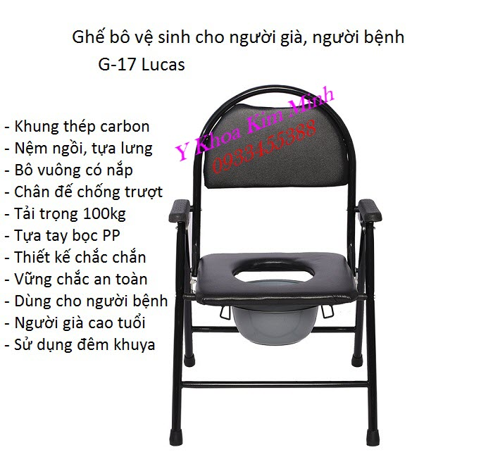 Ghế bô vệ sinh dùng cho người già người bệnh bán tại Tp Hồ Chí Minh - Y Khoa Kim Minh