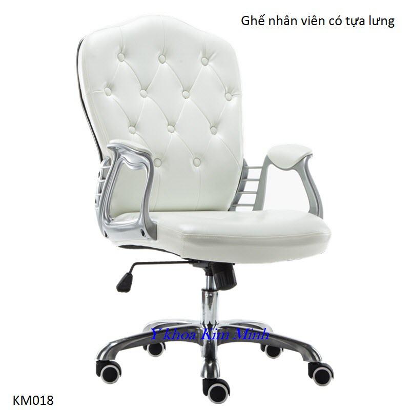 Ghế búp spa có tựa lưng tăng giảm chiều cao KM-018 - Y Khoa Kim Minh