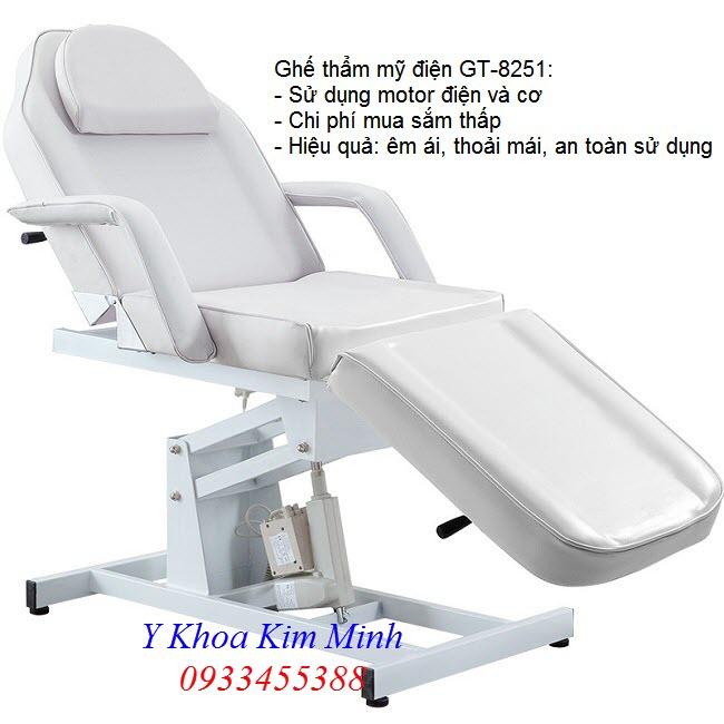 Nơi bán ghế thẩm mỹ chỉnh điện GT-8251 tại Tp Hồ Chí Minh - Y Khoa Kim Minh 0933455388