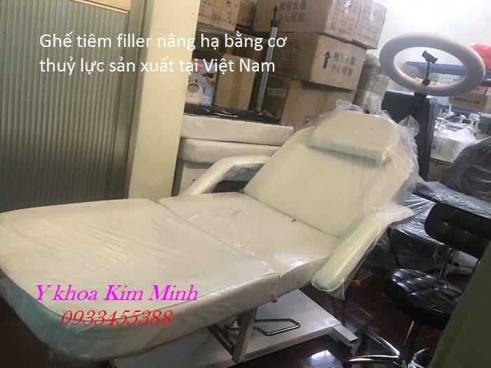 Ghế tiêm filler thẩm mỹ 3 khúc nâng hạ bằng cơ GTC-301VN bán tại Tp Hồ Chí Minh - Y Khoa Kim Minh