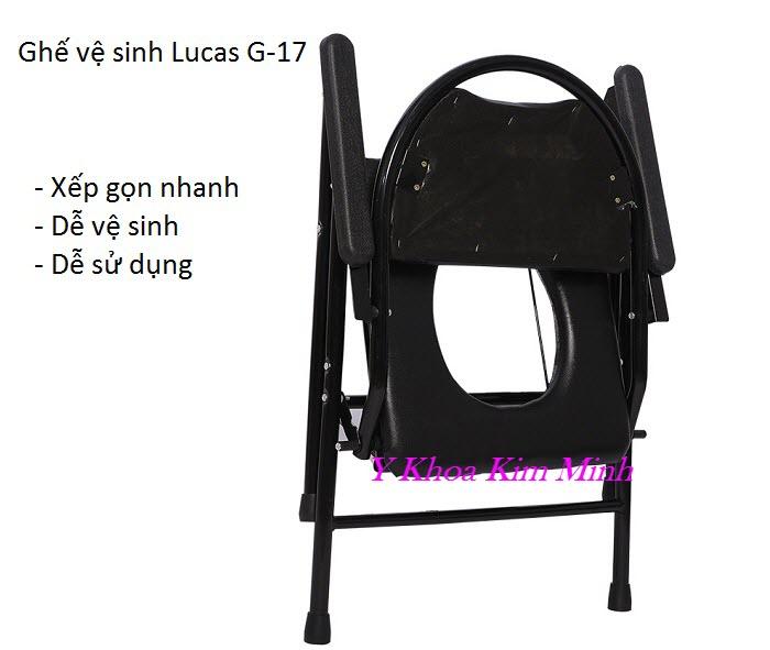 Ghế vệ sinh dùng cho người già người bệnh nhãn hiệu Lucas G-17 - Y Khoa Kim Minh