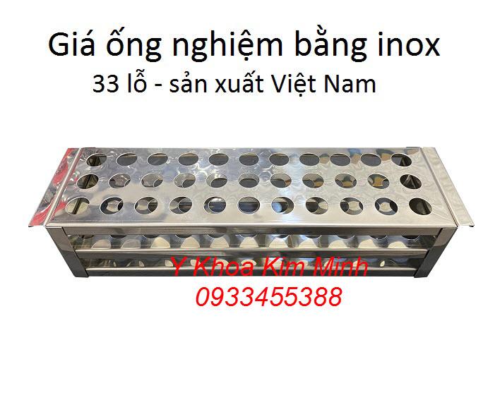 Giá đựng ống nghiệm bằng inox sản xuất tại Việt Nam