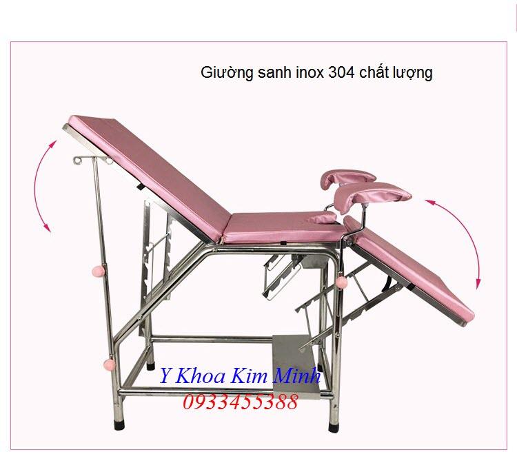 Giường sanh inox 304 mã số G034-01 - Y khoa Kim Minh 0933455388