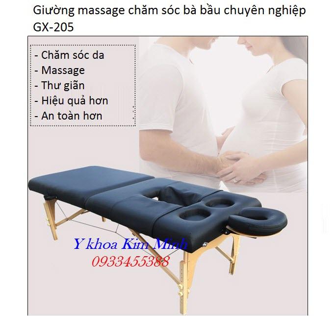 Giường massage chăm sóc da cho bà bầu dạng, giường vali gấp 2 khúc - Y khoa Kim Minh