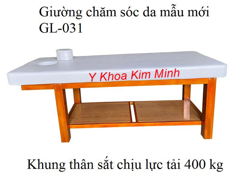 Giường thẩm mỹ spa chăm sóc da GL-031 chuyên nghiệp, khung sắt bảo hành 5 năm - Y Khoa Kim Minh
