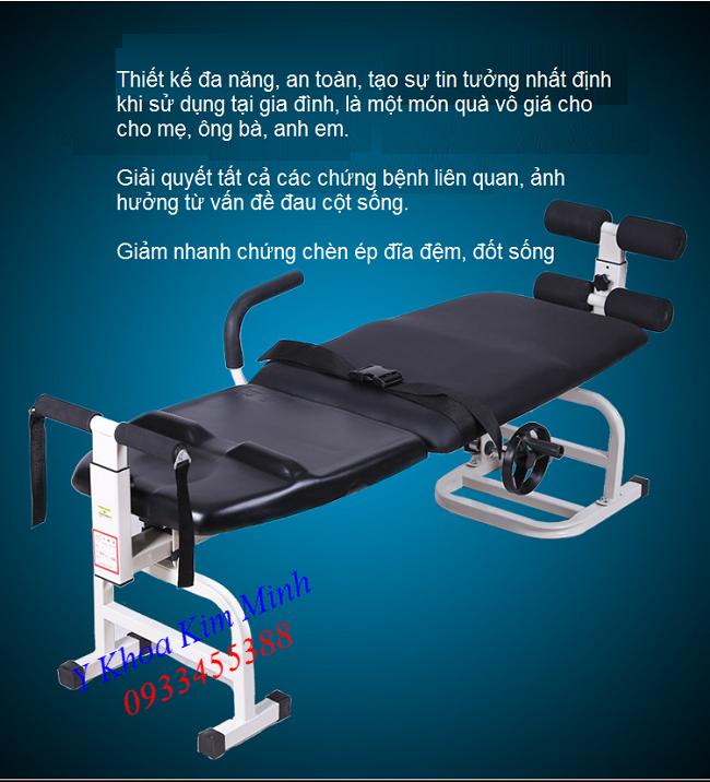 Giường kéo cột sống KM-325 giúp giải quyết nhanh tất cả các bệnh liên quan đến triệu chứng đau cột sống thoát vị đĩa đệm - Y Khoa Kim Minh