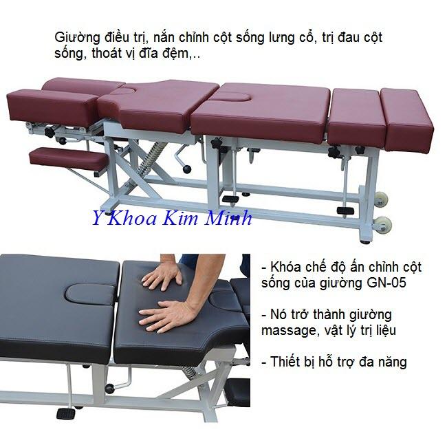 Giường nắn chỉnh điều trị thoát vị đĩa đệm của Mỹ bán tại Việt Nam - Y Khoa Kim Minh