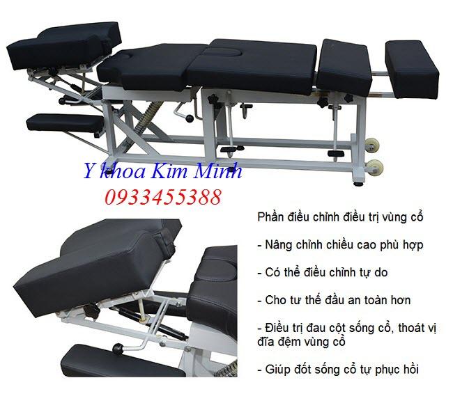 Giường điều trị nắn chỉnh cột sống lưng cổ, thiết bị điều trị bệnh thoát vị đĩa đệm - Y Khoa Kim Minh