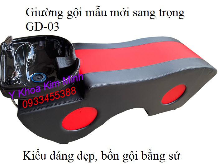 Công ty sản xuất cung cấp giường gội đầu giá sỉ, giường gội salon GD-03 - Y Khoa Kim Minh