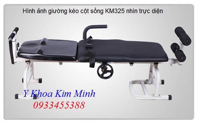 Hình ảnh nhìn mặt ngang của giường kéo giãn cột sống lưng cổ KM-325 - Y khoa Kim Minh