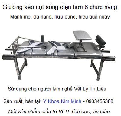 Giuong keo cot song dien remote 8 chuc nang - Y Khoa Kim Minh 0933455388