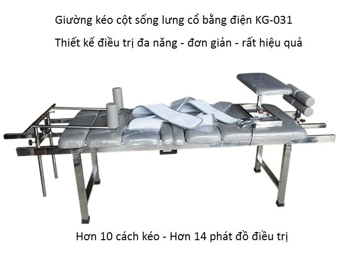 Giường kéo cột sống lưng cổ điều trị thoát vị đĩa đệm GK-031 thiết kế cho năm 2020 - Y Khoa Kim Minh