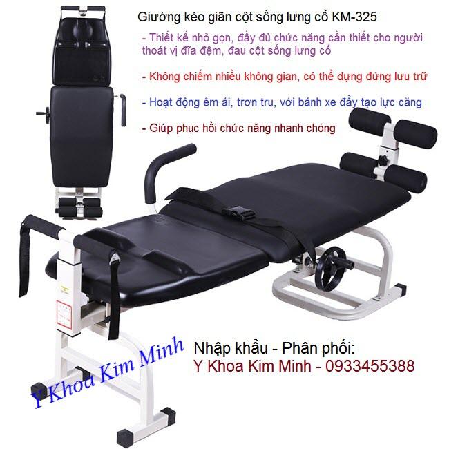 Nhap khau ban giuong keo gian dieu tri dau cot song lung co ca nhan KM325 - Y Khoa Kim Minh