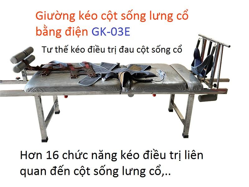 Giường kéo điều trị đau cột sống lưng cổ GK-03E sản xuất tại Y khoa Kim Minh