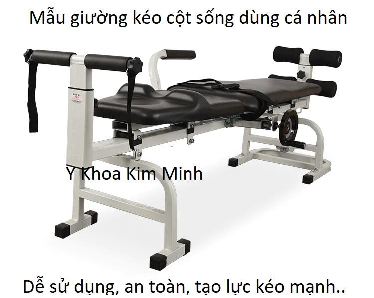 Giường kéo giãn cột sống lưng cổ dùng cá nhân mã số GKT-020