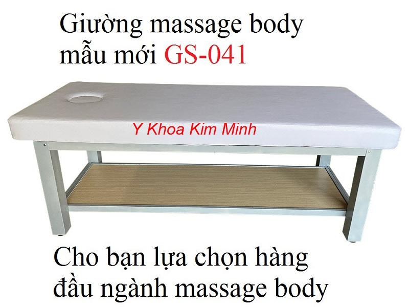 Giường massage body mẫu mới khung chân sắt GS-041 - Y Khoa Kim Minh