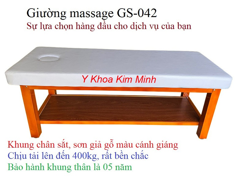 Sản xuất, phân phối giá sỉ giường masasge khung chân sắt GS-042 tại Y khoa Kim Minh